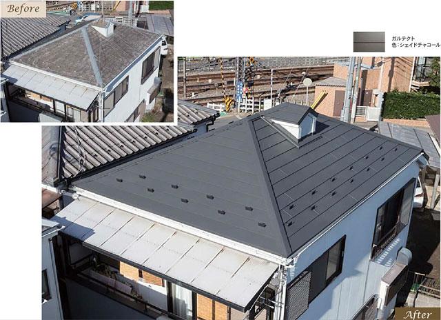ガルバリウム鋼板で屋根リフォーム