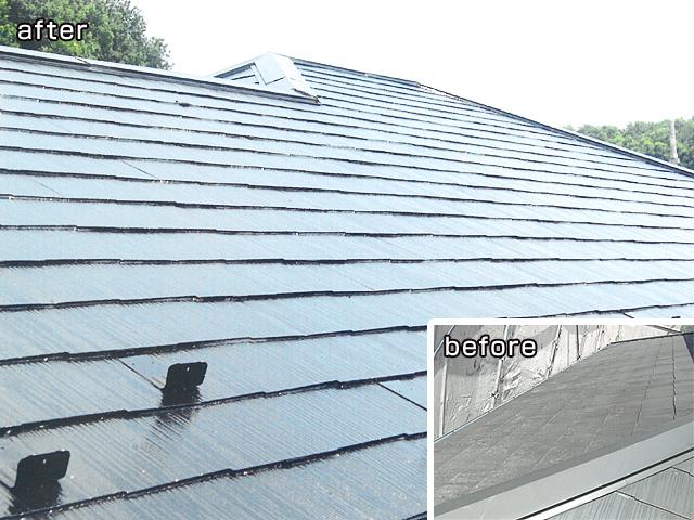 屋根塗装の参考施工例